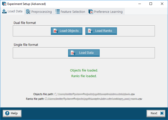 Screenshot of the Preference Learning Toolbox.